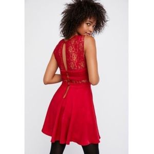 Free People Dresses - NWT Intimately Free People Red Lace Dress